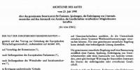 Die EU-Fusions-Richtlinie
